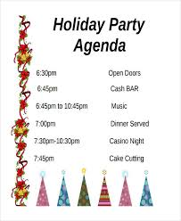 Party Agenda Sample 56 Agenda Templates And Examples Free Premium Templates