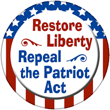 restore liberty repeal the patriot act button magnet from  for on this page restore liberty repeal the patriot act design