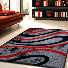red black rug modern red black and gray area rugs decorated in living room with orange red black rug