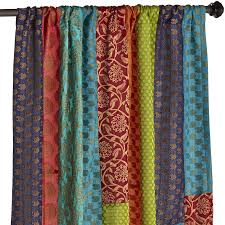 Maroon Curtains For Bedroom Sari Patchwork Curtain Pier 1 Imports