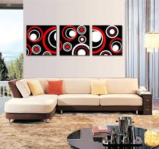 amazon spirit up art huge red and black and white abstract art circles picture painting on canvas print stretched and framed modern home decorations  on black red and white wall art with amazon spirit up art huge red and black and white abstract art