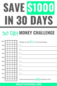 30 Day Money Saving Challenge 10 Ways To Save 1 000 In A
