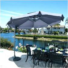 ft patio umbrella outdoor top rated cantilever umbrellas with solar lights