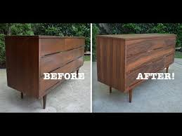 Mid Century Modern Dresser Makeover Strip And Refinish Thrift Simple Mid Century Modern Furniture Restoration