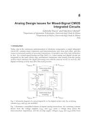 Analog Design Pdf Analog Design Issues For Mixed Signal Cmos Integrated