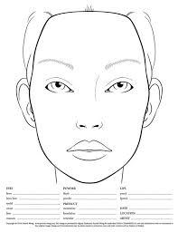 Blank Face Chart Haupropbankdis Blank Makeup Face Charts