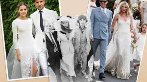celebrity wedding dresses that made history stylecaster