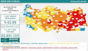 20 Temmuz Türkiye'de koronavirüs tablosu