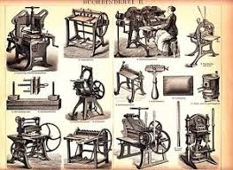 image is loading ca1890 old book binding machine antique lithograph print