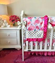 poka dot crib bedding hot pink watercolor fl and gold polka dot crib bedding hot pink