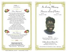 Memorial Pamphlet Template Tri Fold Funeral Program Template Free