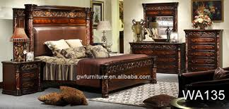 High Quality Classical Wooden Furniture Roman Bedroom Sets White