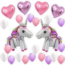 3d Unicorn Balloons Birthday Party Supplies For Kids Birthday Decorations Rainbow