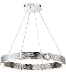 modern forms pd 56729 pn zelda led 29 inch polished nickel chandelier ceiling light in 29in