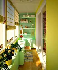 Yellow Balcony With Garden Ideas