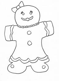 Pleasant Gingerbread Girl Coloring Pages Lovely And Boy Page
