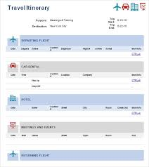 Free 5 Sample Travel Itinerary Templates In Pdf Word