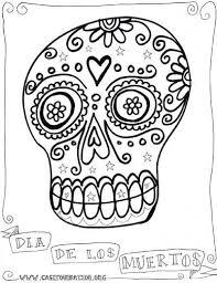 Free Printable Day Dead Coloring Pages And Dia De Los Muertos