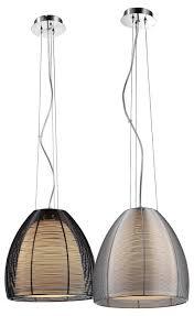 wire shade chandelier