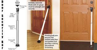 Door security floor bar Alarm Security Door Security Bar Review Pinterest Door Security Bar Review What Like Most About It