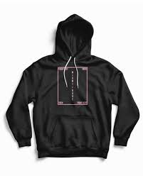 Black Hoodie With Design Custom Hoodie Using A Minimal Design Template Provided By