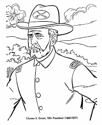 Small Picture USA Printables US Presidents Coloring Pages President Ulysses S