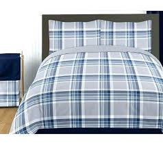 plaid bed sets navy blue and grey twin boys teen bedding set collection by sweet green miles plaid reversible comforter