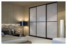 wenge sliding closet doors with white lami glass toronto space solutions