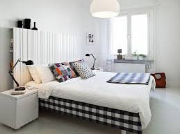 Retro Style Bedroom Bedroom Inspiring Retro Neutral Bedroom With Plaid Duvet And