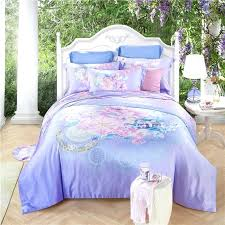 light purple duvet covers papamima countryside flowers purple bedding sets queen king size soft artificial silk