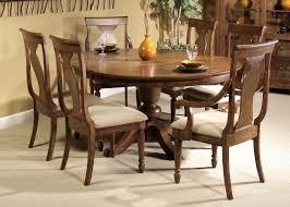 image of design teak pedestal dining table