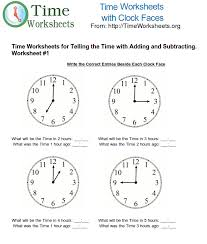 Time Math Worksheets for Telling Time with Subtracting and Adding ...