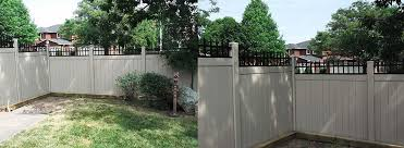 aluminum privacy fence. Privacy Vinyl Fencing With Aluminum Picket Installation By Fence