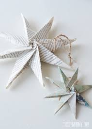 How to make an 8 pointed paper star from book pages or maps. Makes a