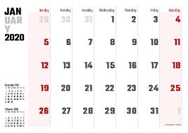 Printable 2020 Calendars Pdf Calendar 12 Com