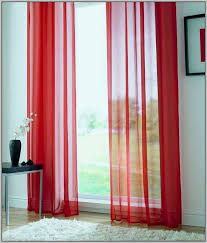 red tab top cotton curtains