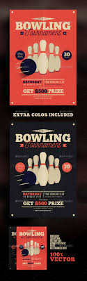 Bowling Event Flyer Pin By Best Graphic Design On Flyer Templates Bowling