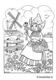 Kleurplaat Volendam Kleuterideenl Volendam Coloring Dutch