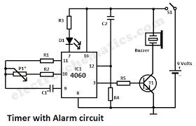 timer alarm circuit alarm timer circuit schematic