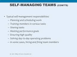 self managed teams chapter 12 teams teamwork and collaboration ppt video online