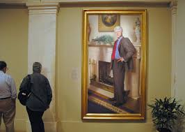 nelson shanks s william j clinton hanging in the national portrait gallery in washington
