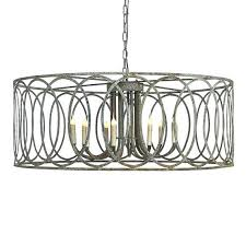 round metal chandelier large iron with circle motif frame parts
