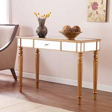 fabulous mirrored furniture. Table Fabulous Mirrored Sofa 5 With Champagne Gold Finish And Crystal Style Knob Southern Enterprises Console Furniture M