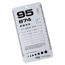 Snellen Chart Dimensions Ultimate Pocket Eye Chart Rosenbaum Snellen
