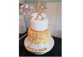 2 Tier 50th Wedding Anniversary Cake Lovelea Cakes