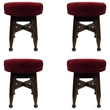 carved wood stool four french mid century modern neoclassical hand carved wood stools circa for carved carved wood stool