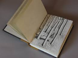 open drawing book charcoal pencil drawing