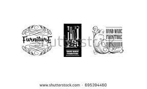 vintage furniture logo. Vector Illustration Hand Made Furniture Factory Vintage Logo Collection.