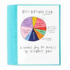 Card Birthday Chart Best Birthday Ever Pie Chart Birthday Card