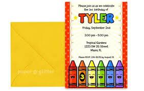 Class Party Invitation Crayon Rainbow Party Invitation For Birthday Or School Etsy